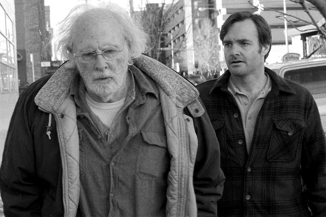 Bruce Dern 在《百萬獎金夢》(Nebraska)中飾演糟老頭 Woody ,性格固執,在家中少言少語。圖為《百萬獎金夢》(Nebraska )劇照。