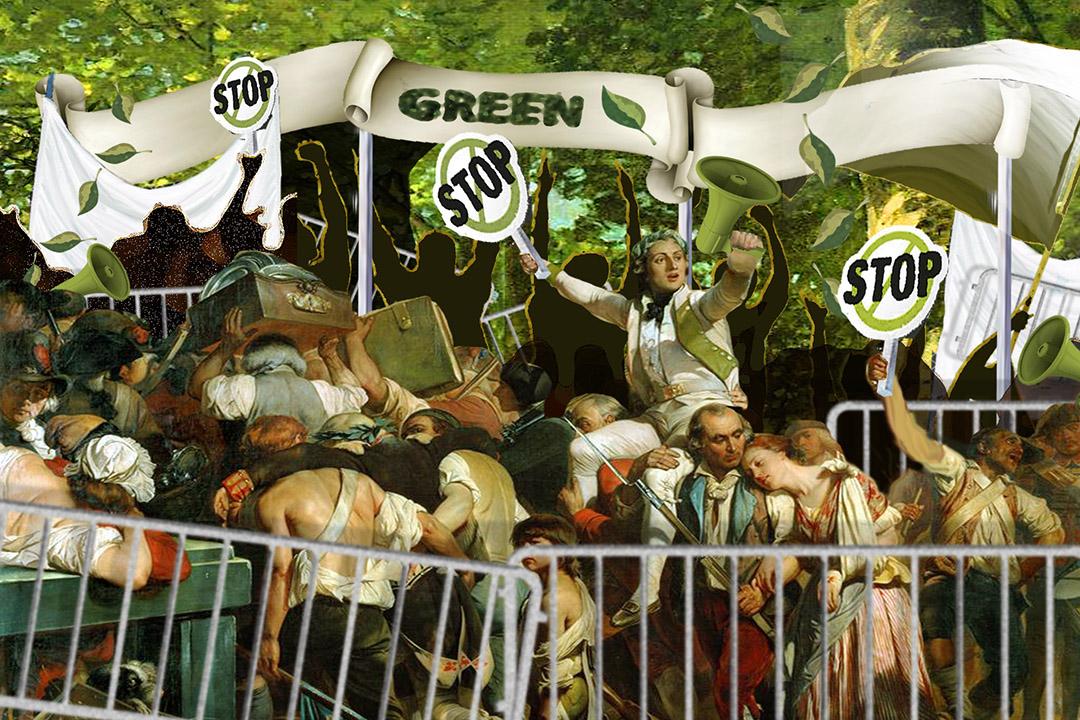 市民群起捍衛郊野公園。插圖:Wilson Tsang/ 端傳媒