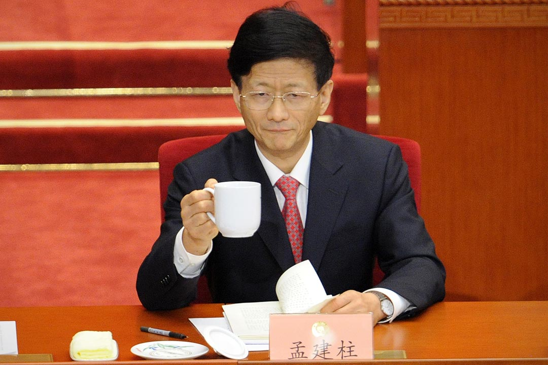 中共中央政法委書記孟建柱攝: WANG ZHAO/AFP