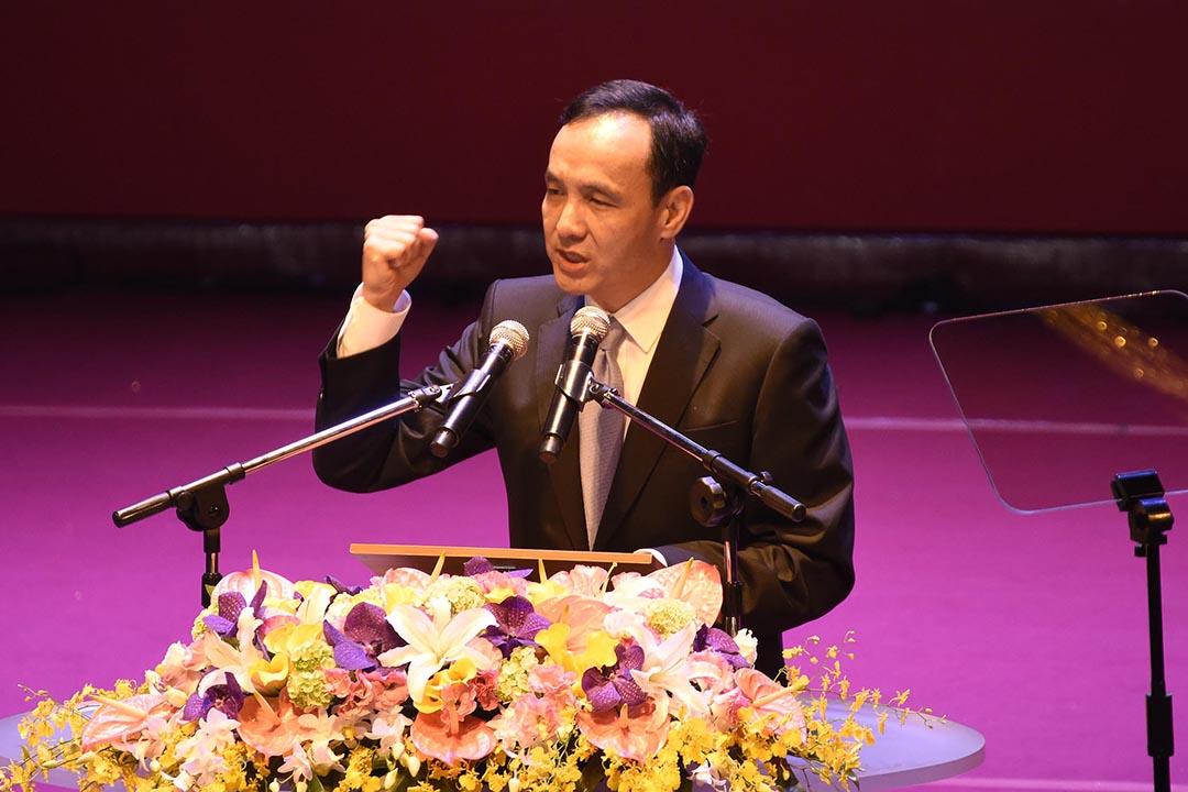 國民黨主席朱立倫。攝 : 陳弘岱/端傳媒