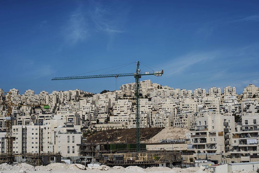 以色列耶路撒冷屯墾區哈赫馬(Har Homa)的一片工地。攝 : Ilia Yefimovich/GETTY