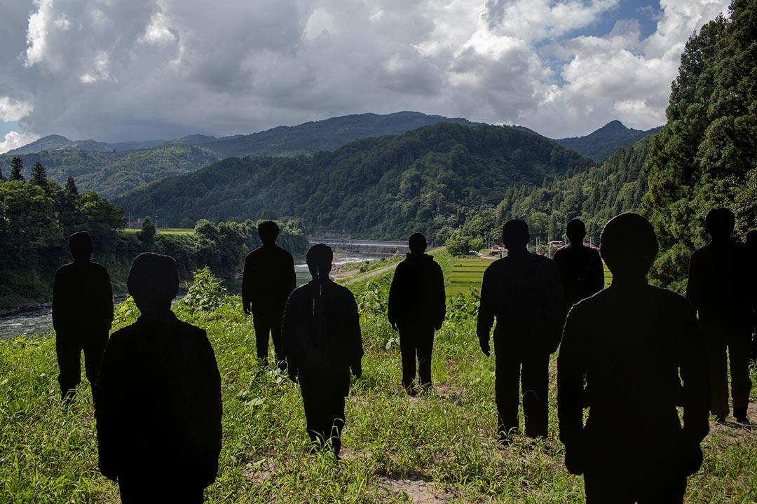 日本藝術家霜鳥健二在大地藝術祭的作品。攝:Nicole Tung/端傳媒