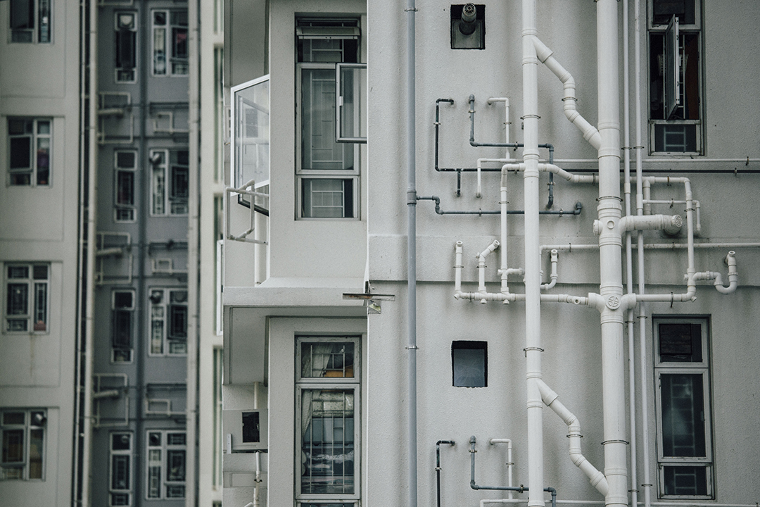 早前被驗出食水含鉛的啟晴邨。攝:Anthony Kwan/端傳媒
