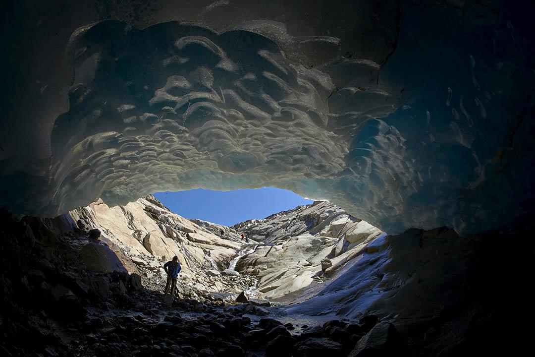 由於氣候變暖,阿爾卑斯山的阿萊奇冰川(Aletsch Glacier) 預計將會在2050年大部分消失。攝:Denis Balibouse/REUTERS