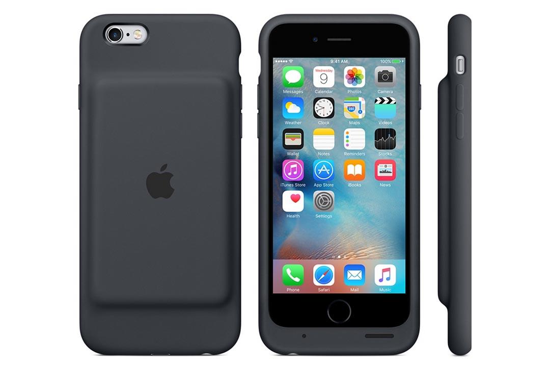 蘋果公司推出了首款自行設計的充電保護殼(Smart Battery Case)蘋果官方網頁截圖