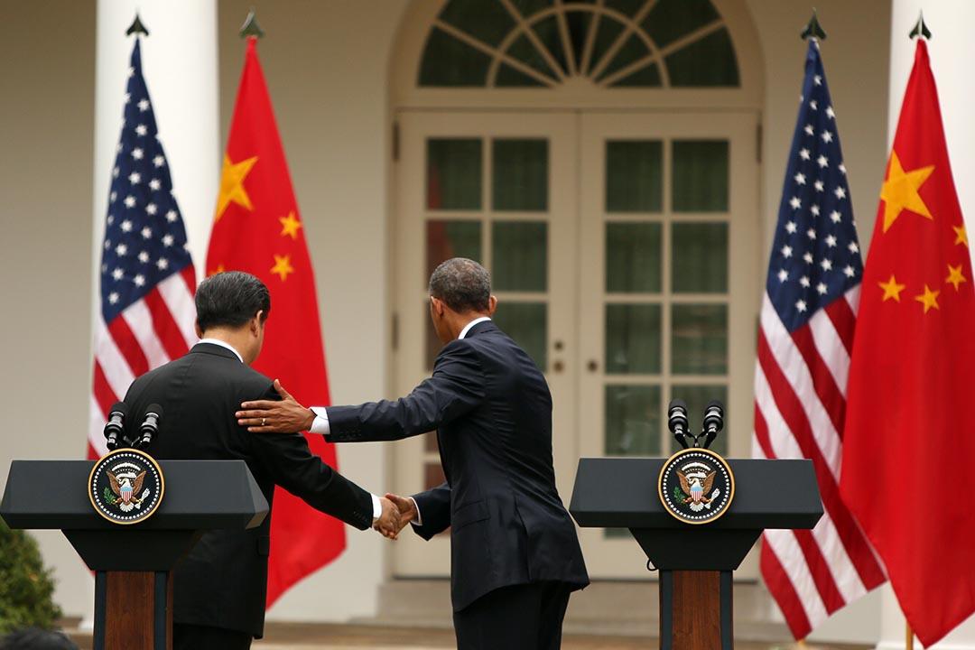 中國國家主席習近平訪問美國,與美國總統奧巴馬進行會談。攝:Gary Cameron/REUTERS
