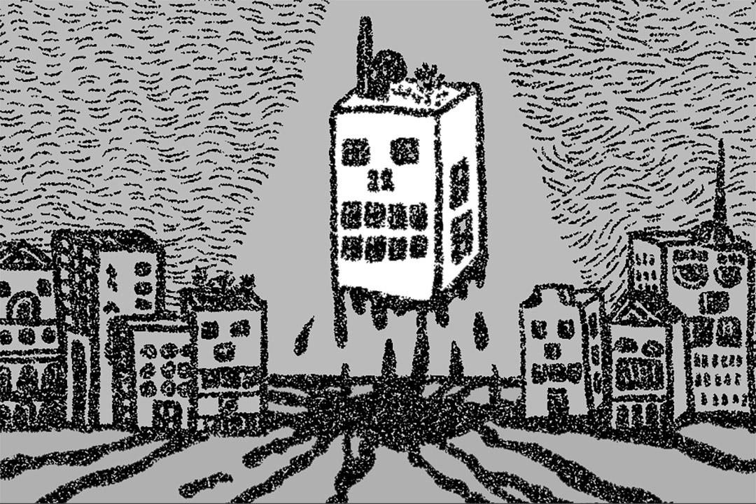 當山丘被被剷平,建築群被拔出歷史脈絡,前水警總部還可以說是獲保留下來嗎?插畫:何倩彤