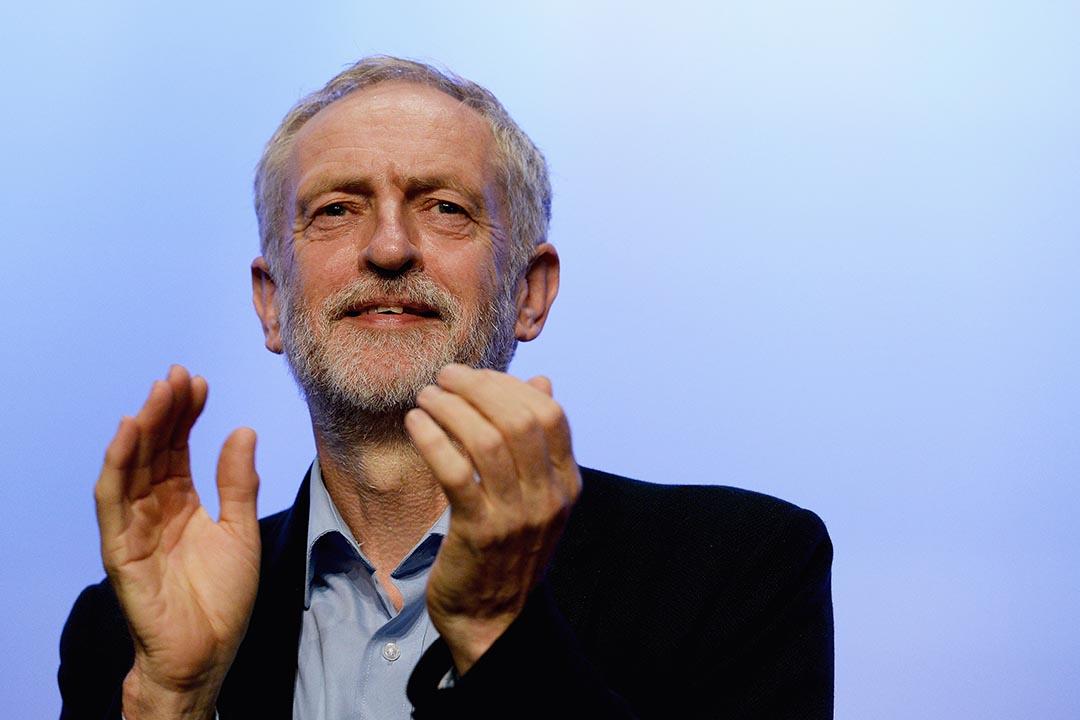 2015年9月15日,英國工黨新黨魁郝爾彬(Jeremy Corbyn)在英國工會大會發表演說。攝:Mary Turner/GETTY