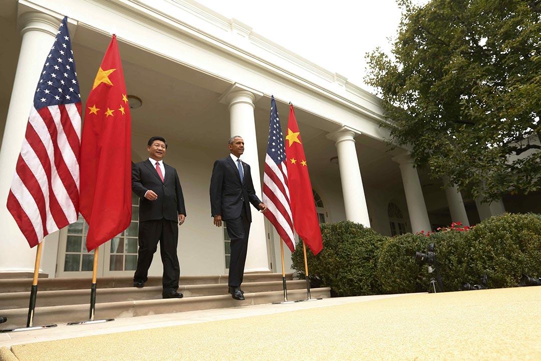 2015年9月25日,美國華盛頓白宮,美國總統奧巴馬與中國主席習近平會面。攝:Gary Cameron / REUTERS