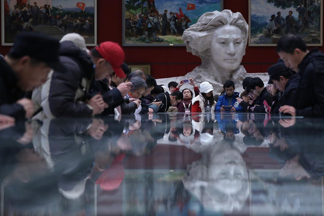 中國北京一個展覽。攝: Feng Li/Getty