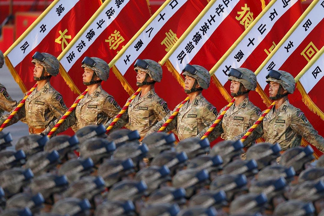 中國人民解放軍。攝 : REUTERS