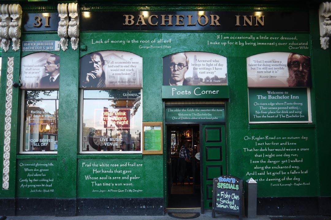麗菲河畔的都柏林文學酒館。攝:陳丹燕