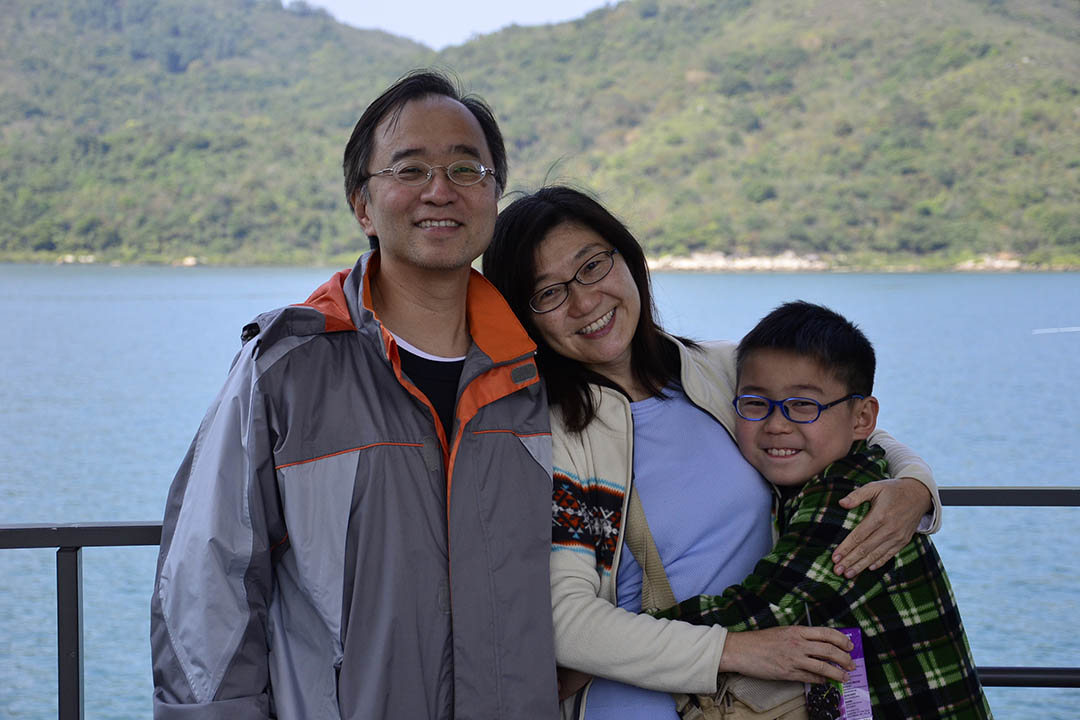趙永佳和家人。照片由作者提供