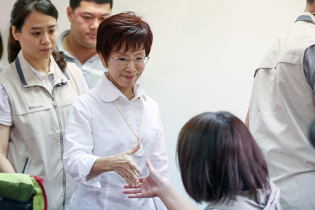 十月六日,洪秀柱出席在競選總部的演説。攝 : 張國耀/端傳媒