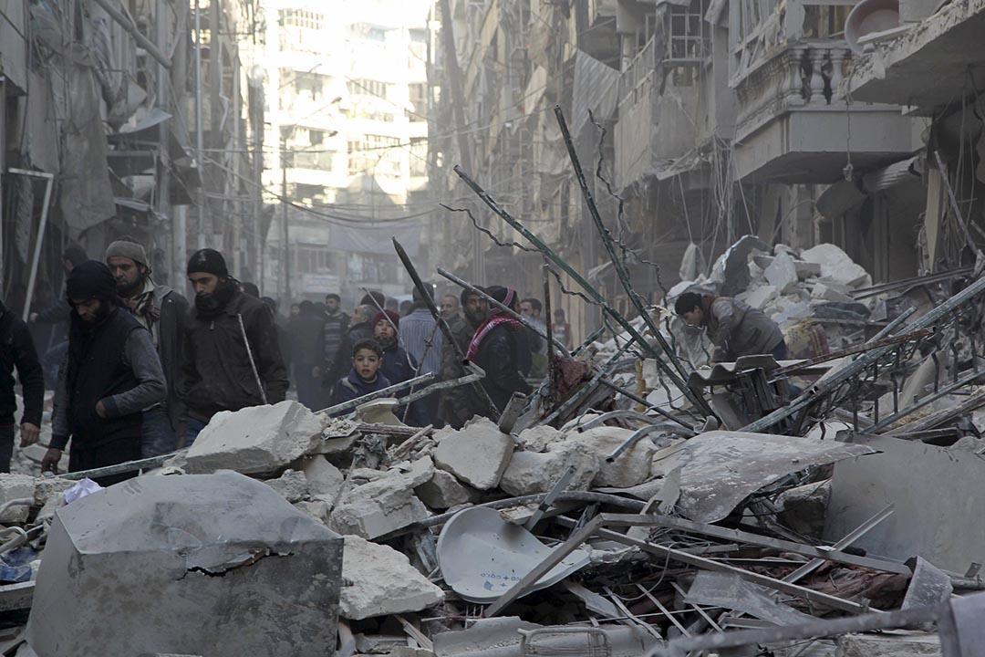 敘利亞和談中斷後,俄羅斯對敘利亞的空襲仍在持續。攝 : Abdalrhman Ismail/REUTERS