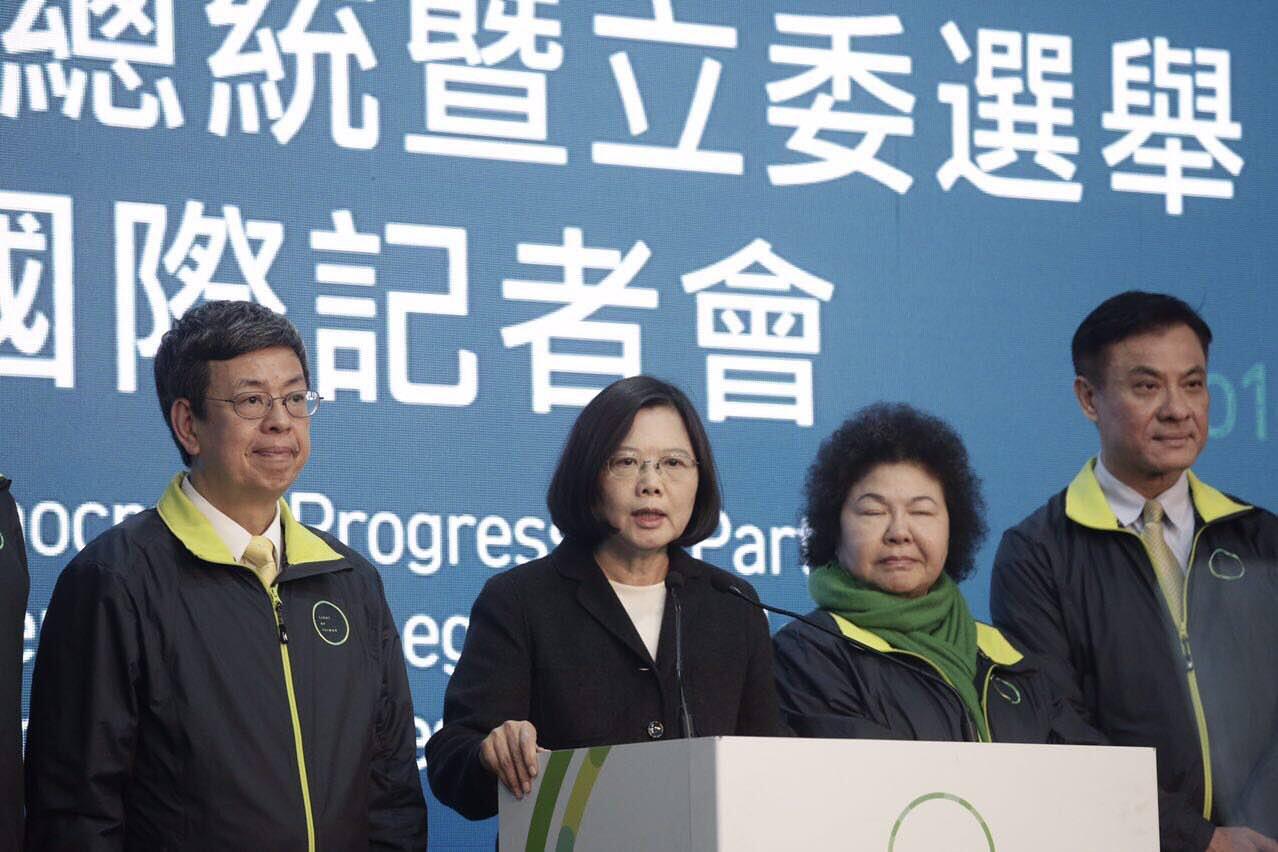 民進黨主席蔡英文當選台灣總統。攝:Anthony Kwan/端傳媒