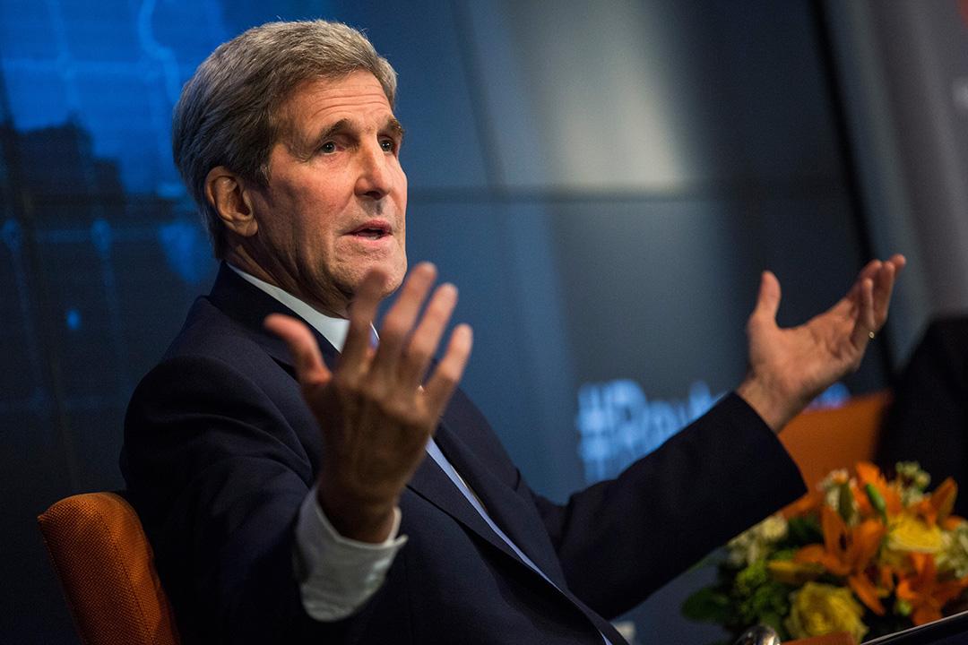 美國國務卿約翰·克里(John Kerry)。攝 : Andrew Burton/GETTY