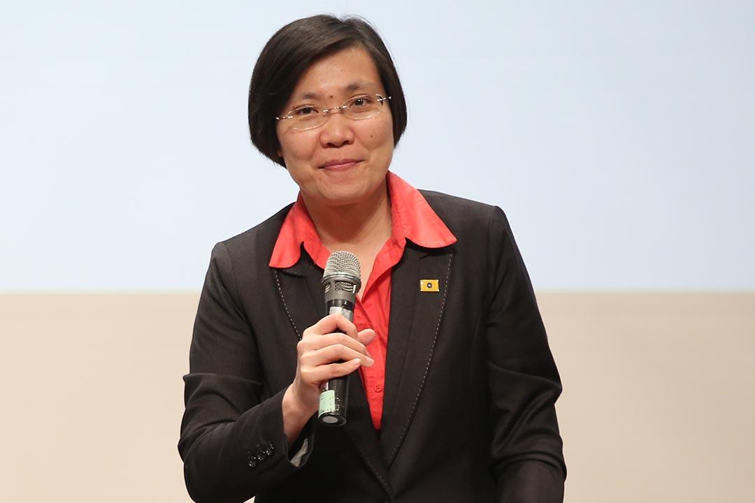 民國黨主席徐欣瑩。攝:張國耀/端傳媒