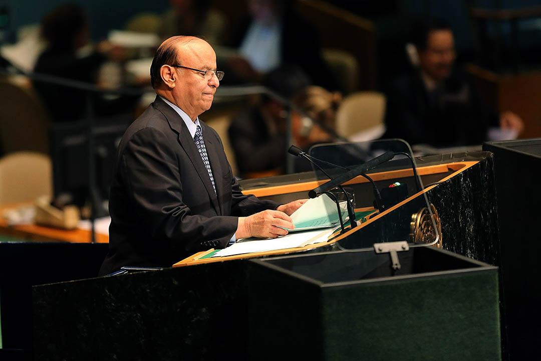 也門總統哈迪在2012年出席聯合國大會。攝:Spencer Platt/GETTY