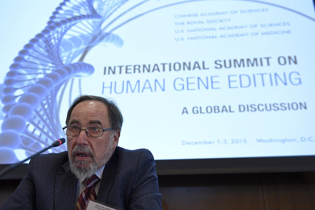 國際基因編輯峰會主席、諾貝爾獎獲得者 David Baltimore。攝:Susan Walsh/AP