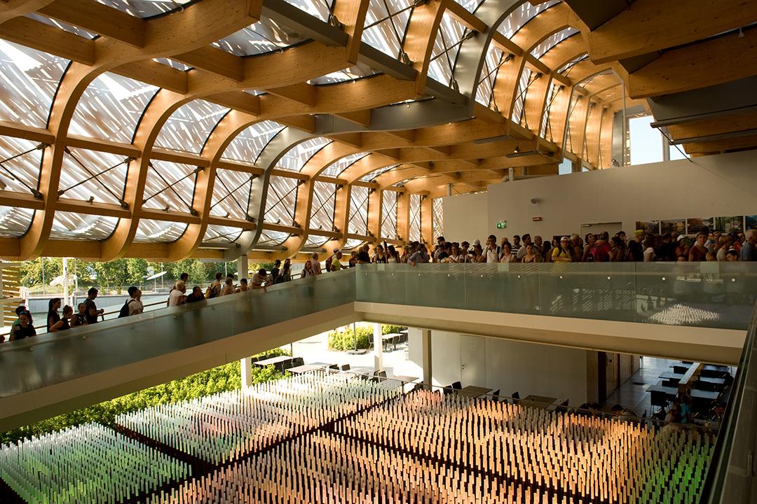 2015年米蘭世博中國館內部。攝:Andrea Wyner/端傳媒