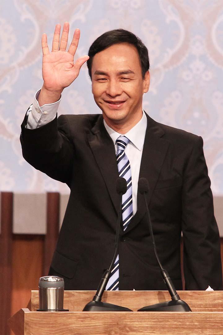 國民黨主席朱立倫。攝:Pool/中央社/台北市攝影記者聯誼會