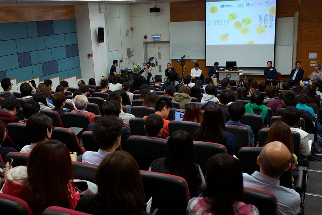 2015年11月27日,區選社區民主論壇。攝:羅國輝/端傳媒