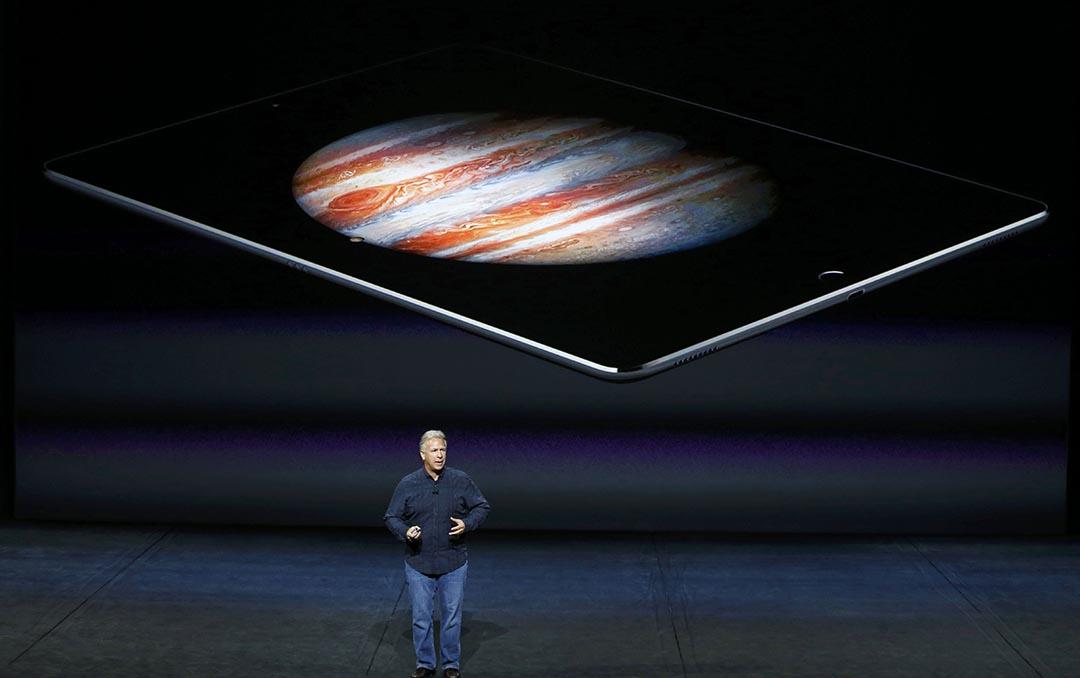 9月9日,蘋果公司在美國三藩市舉行了秋季發布會,發布了 iPhone 6S、iPhone 6S+、iPad Pro 和新版的 Apple TV。攝 : Beck Diefenbach/REUTERS