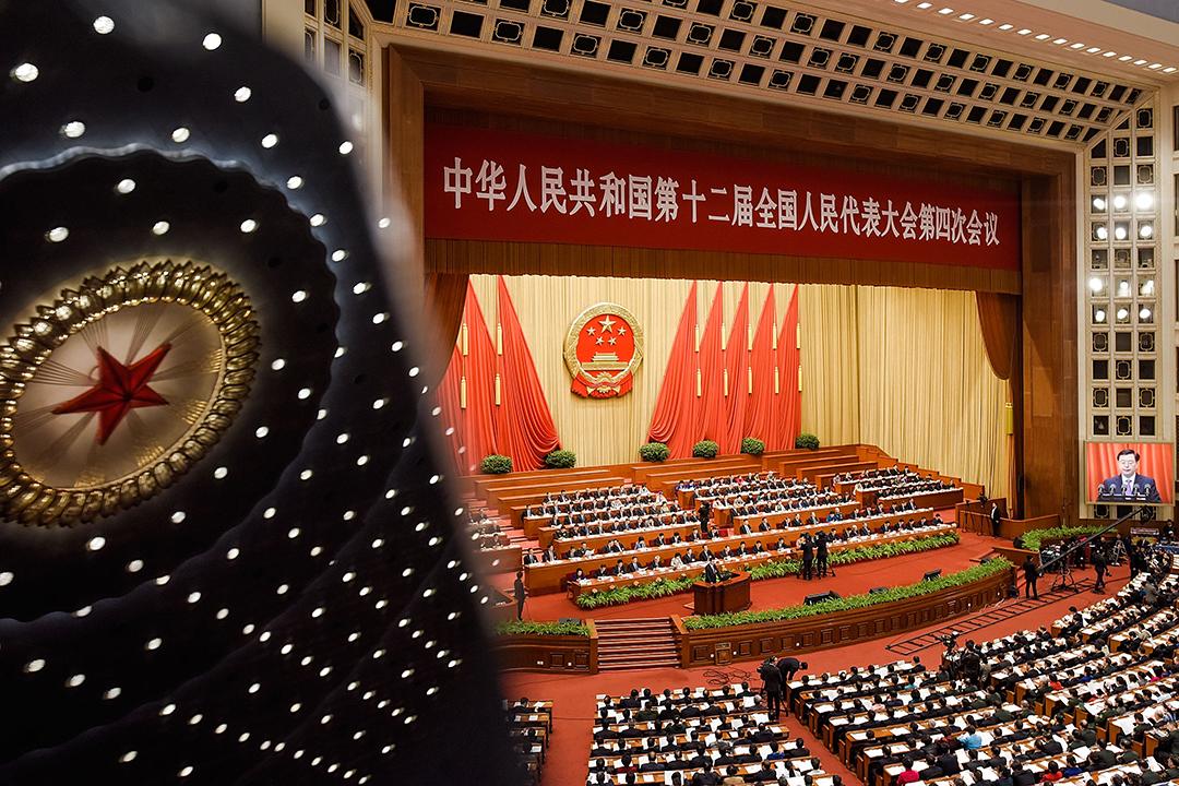 2016年3月9日,北京,人民大會堂。攝:Etienne Oliveau/Getty Images