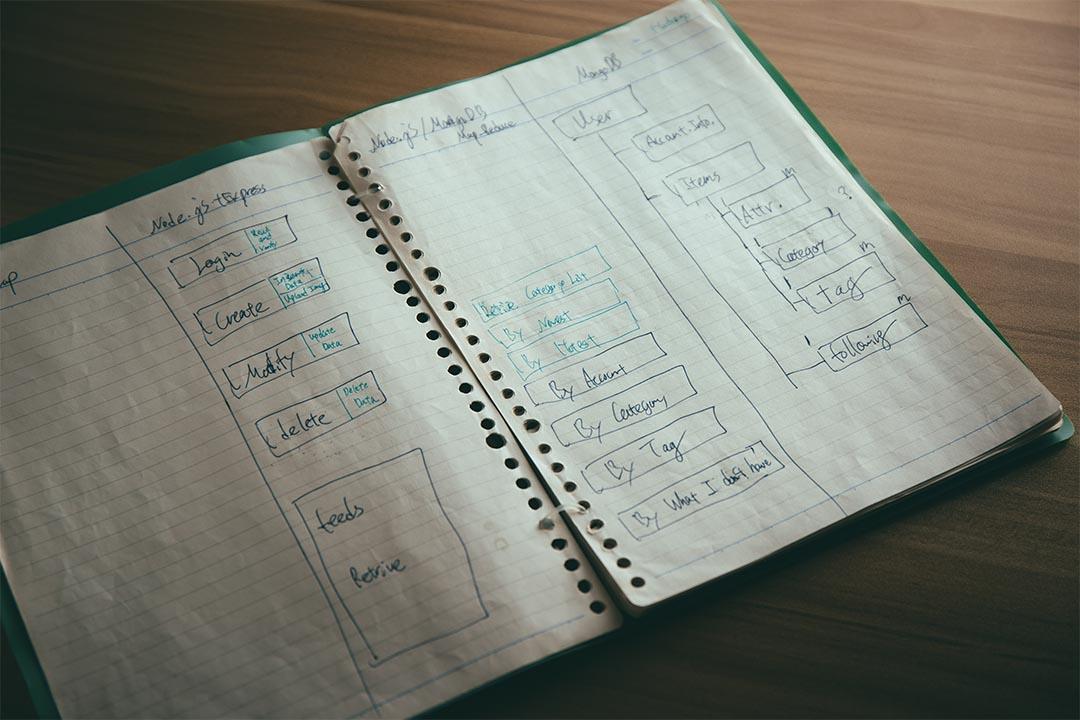 有時一些系統結構,也是先靠手畫再決定落實的。攝:王嘉豪/端傳媒