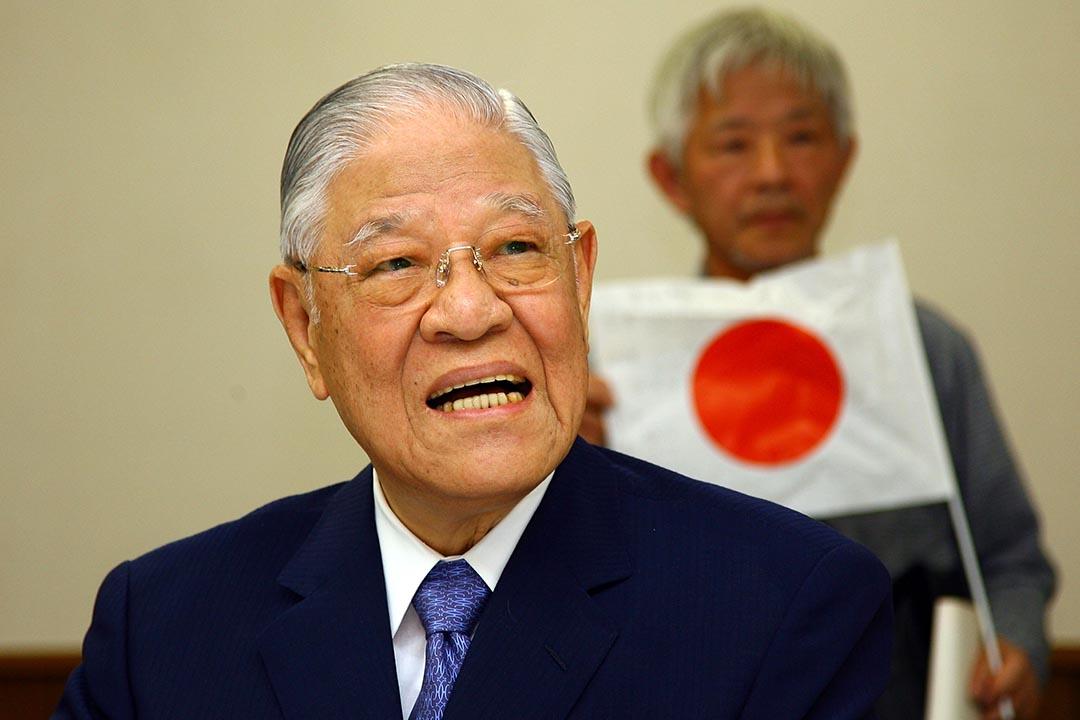 圖為台灣前總統李登輝於2007年訪問日本東京。攝:Koichi Kamoshida/GETTY