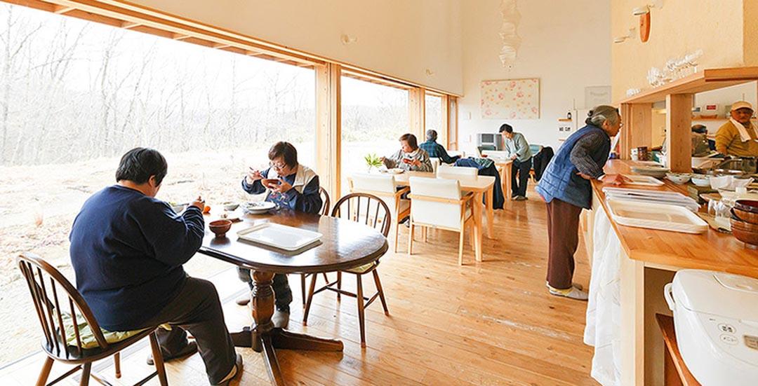 大多數附服務長者住宅中,都設有提供膳食的飯堂。圖中的附服務長者位於栃木県那須郡。圖片來自Suumo.jp,由作者提供
