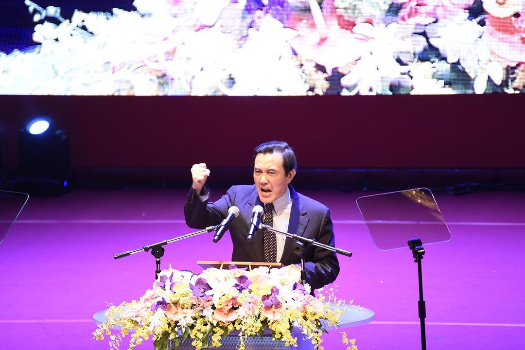 台灣總統馬英九出席第19次國民黨全代會。攝:陳弘岱/端傳媒