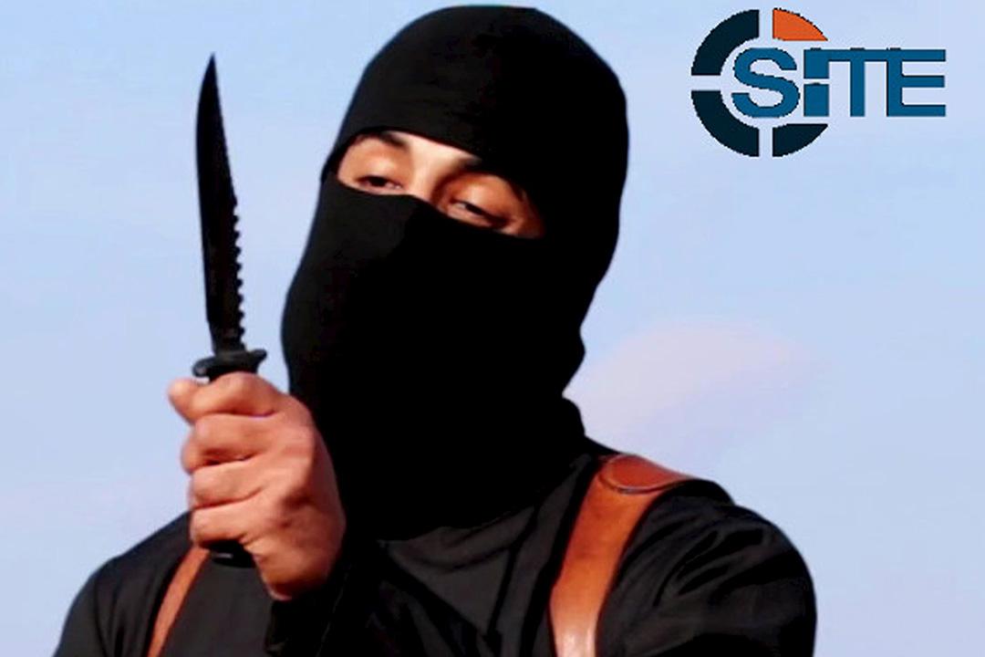 恐怖組織「伊斯蘭國」於1月19日證實綽號「聖戰約翰」的英籍成員安瓦濟於去年11月已被美軍炸死。圖為 SITE 情報機構於2015年2月發放「聖戰約翰」的照片。圖:SITE Intel Group via Reuters