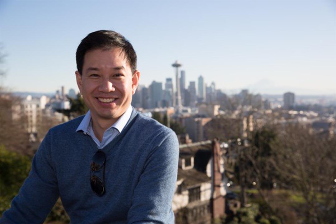 參選華盛頓州副州長的嚴正剛(Philip Yin)。Philip Yin 競選網頁