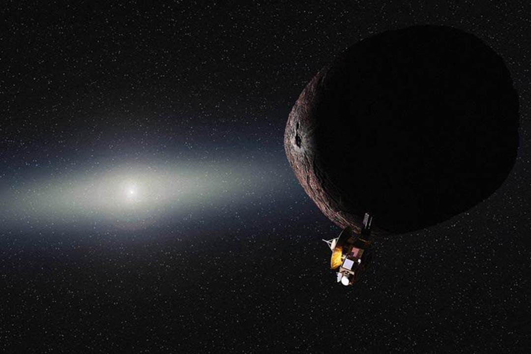 在「新視野號」(New Horizons)太空船於7月14日歷史性地飛越冥王星後,美國太空總署(NASA)近日確定飛船將前往2014 MU69的小型柯伊伯帶(Kuiper Belt)天體。NASA網頁圖片
