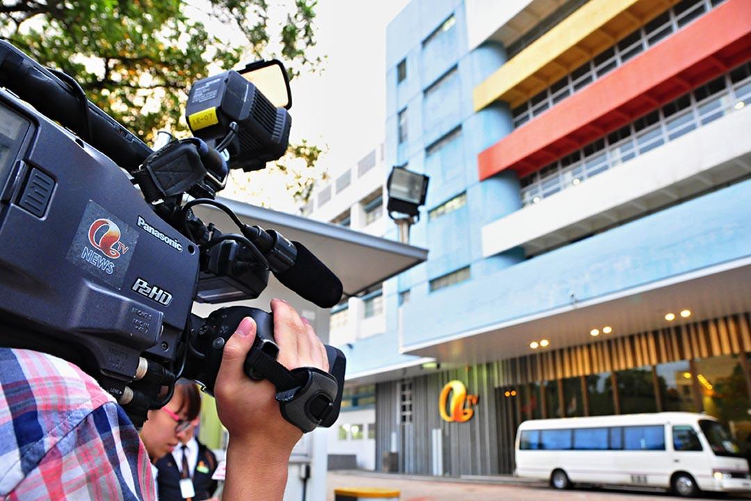 香港亞洲電視前主席邱德根之子邱達昌日前公布「新亞台」開台計劃。攝: Yeung Kwan/EyePress via AFP