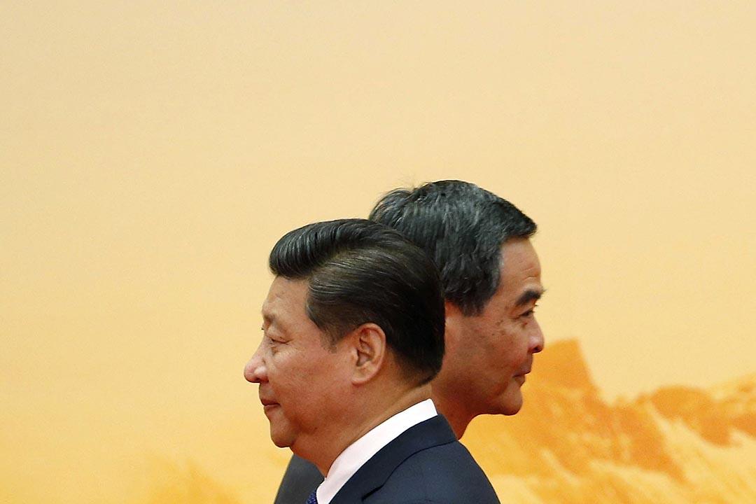 2008年7月,時任國家副主席的習近平訪港,發表「三權合作」論。 攝:Kim Kyung-Hoon/REUTERS