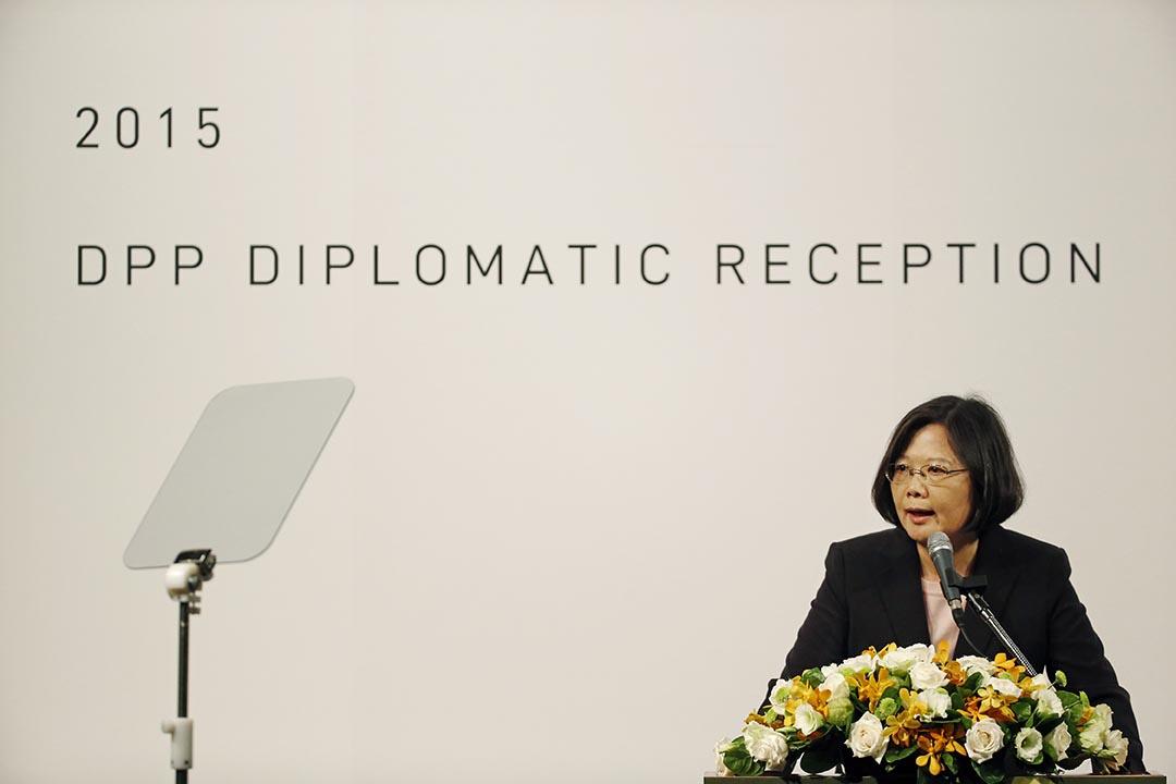 台灣2016總統大選民進黨候選人蔡英文。攝:Wally Santana/AP