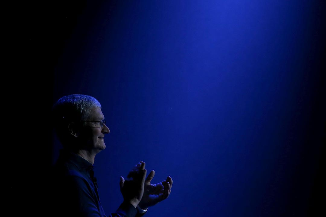 蘋果公司總裁庫克(Tim Cook)。攝 : Justin Sullivan/GETTY
