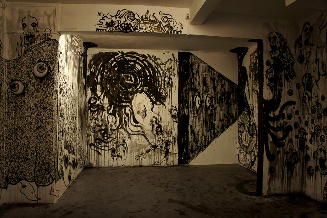 陳翊朗在廣州觀察社舉行的個展《也許是魔鬼》(The Devil, Probably)。圖片由藝術家提供