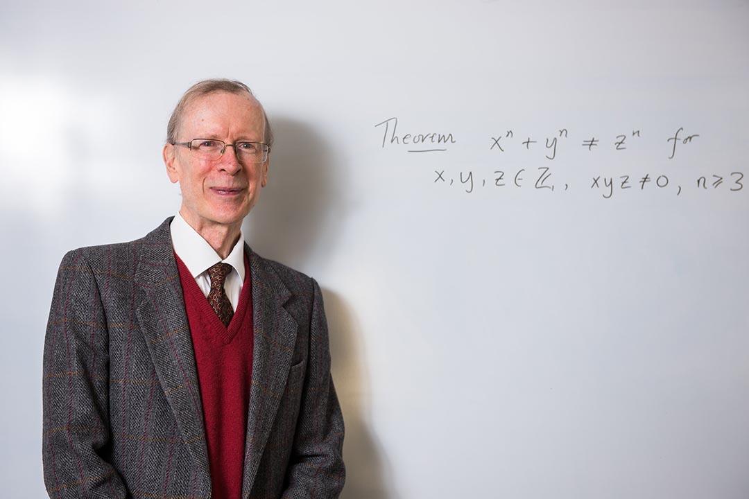 英國數學家懷爾斯(Andrew Wiles)因證明費馬大定理,而獲得2016年度的阿貝爾獎(Abel Prize)。攝:John Cairns/Courtesy University of Oxford