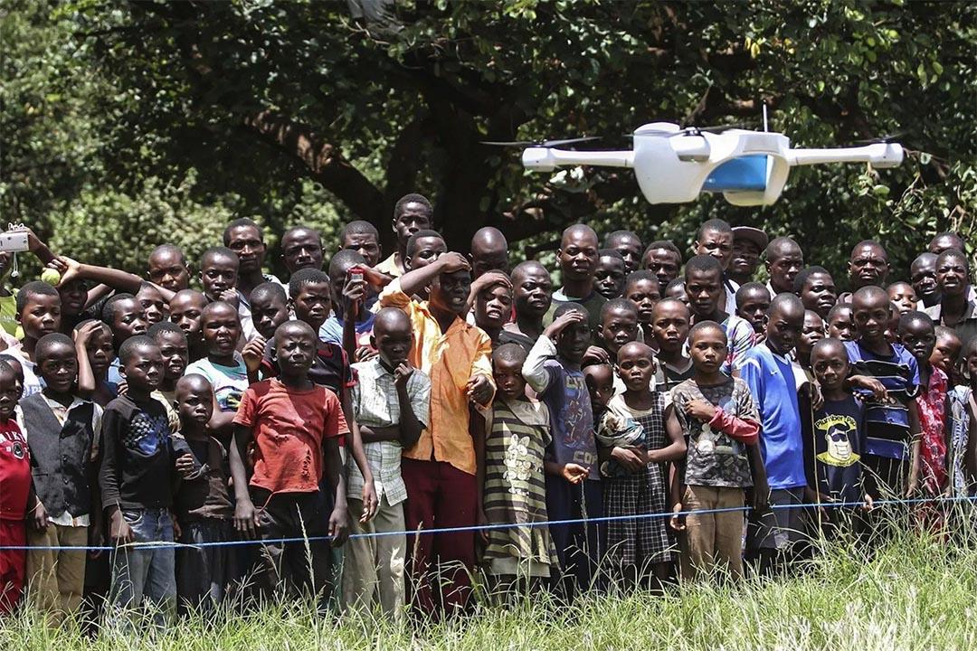 非洲國家馬拉維測試使用無人機運輸血樣,加快檢測效率,以及時確診並治療愛滋病。攝:Bodole/UNICEF