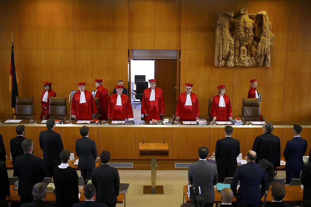 德國聯邦憲法法院審理新納粹政黨「德國國家民主黨」的違憲解散案。攝:Kai Pfaffenbach/REUTERS