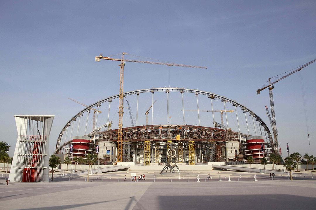 卡塔爾正在興建中的哈利法國際體育場(Khalifa International Stadium)。攝:Naseem Zeitoon/REUTERS