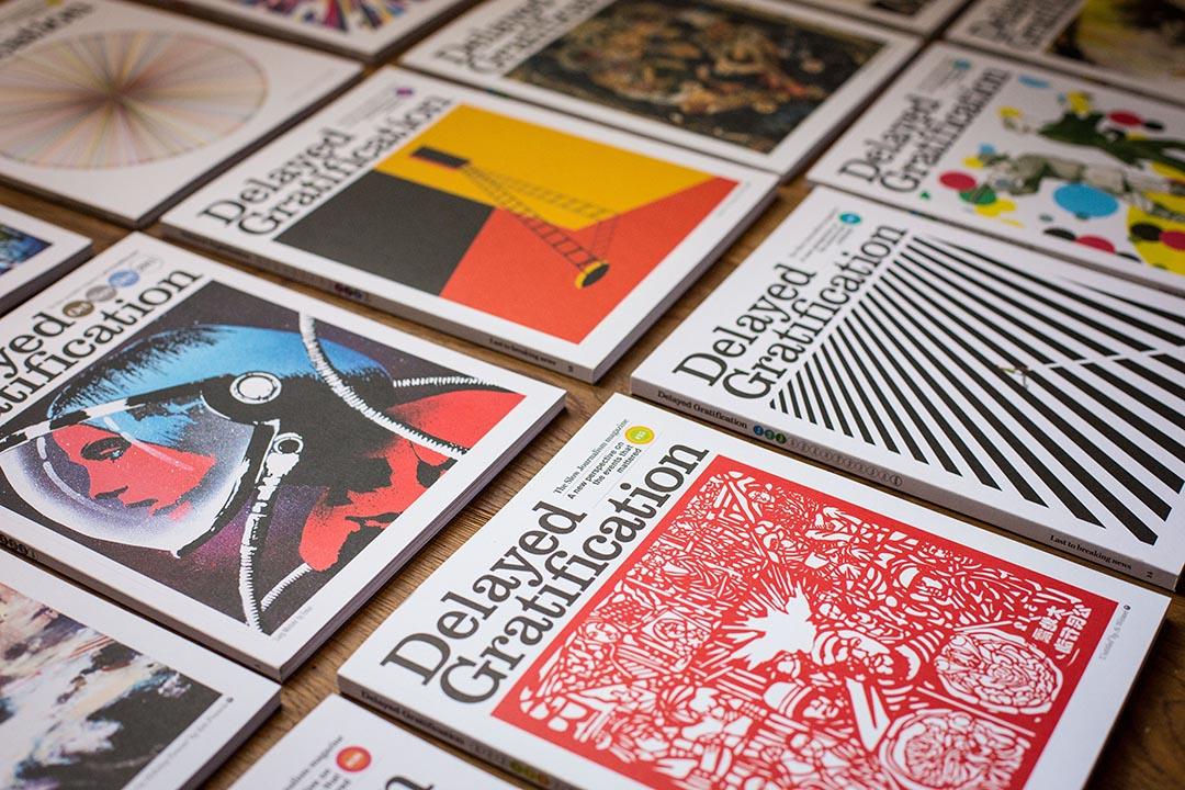 創辦人Rob Orchard認為新聞報紙或雜誌也需要漂亮的視覺呈現。照片提供:Delayed Gratification