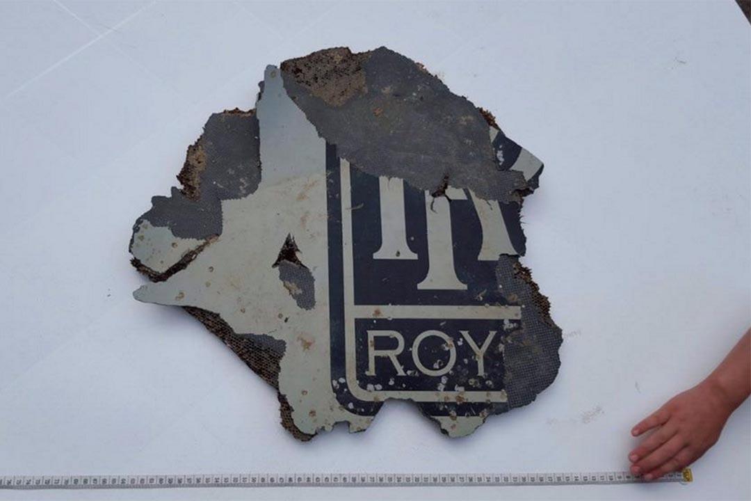 在非洲南部海岸發現的殘骸,疑似馬航 MH370 的引擎碎片。Juanda  Twitter 圖片