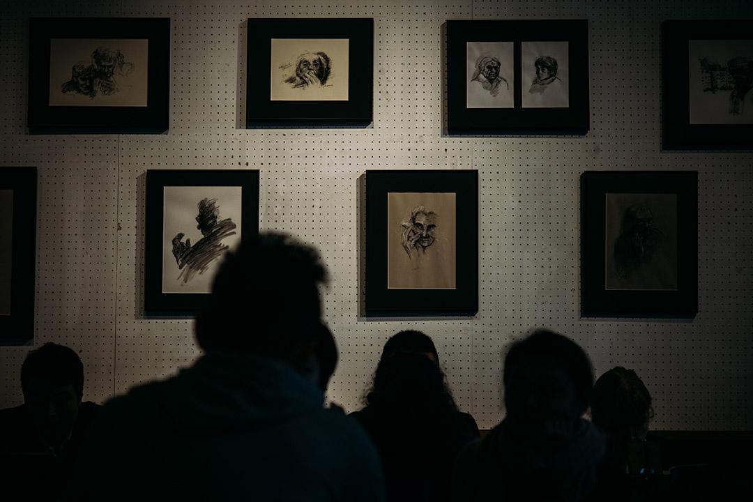 香港油蔴地《Kubrick》書店舉行的奇斯洛夫斯基展覽。攝:葉家豪/端傳媒