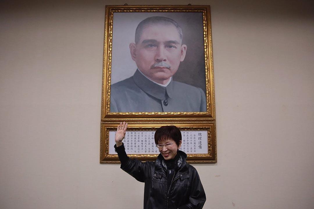 2016年3月26日,洪秀柱當選國民黨黨主席。攝:Billy H.C. Kwok/端傳媒