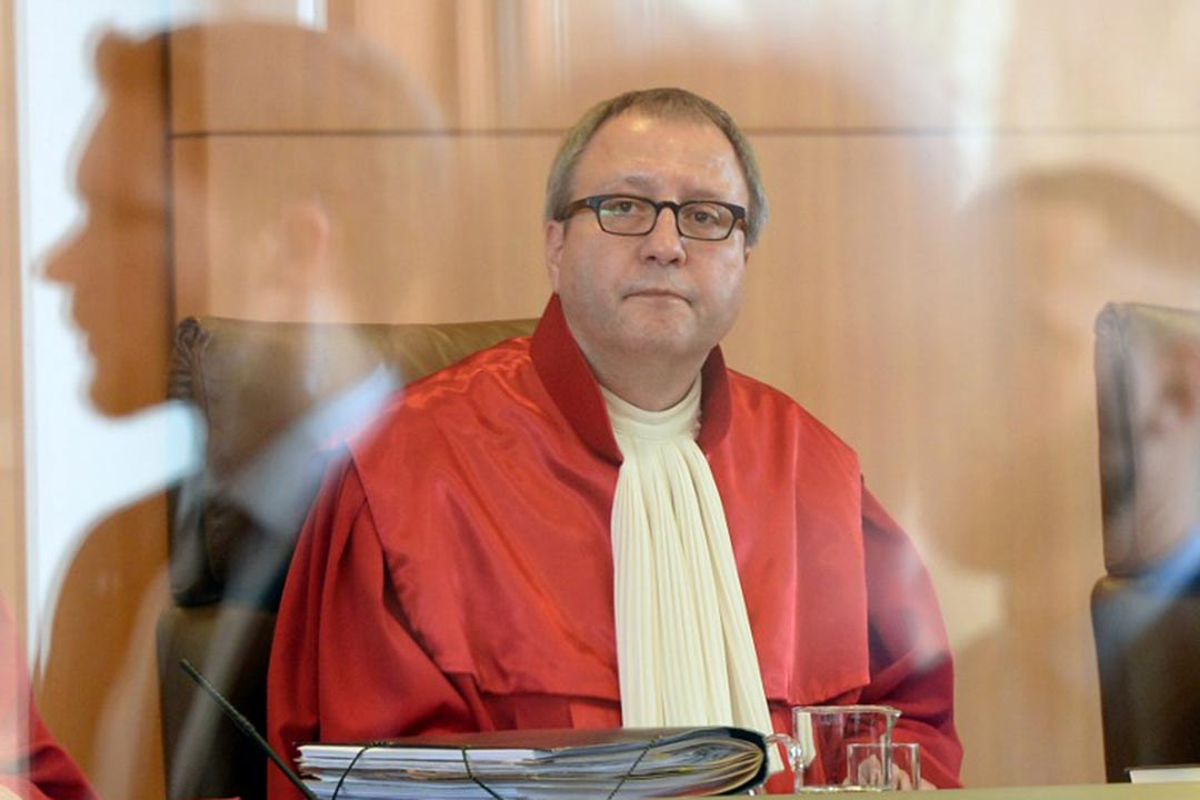 德國憲法法院院長佛斯庫勒(Andreas Voßkuhle)。攝:MARIJAN MURAT/DPA/AFP
